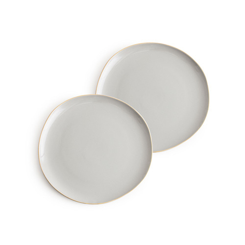 [로잔나] Pacifica Plate Gray  2pcs/set